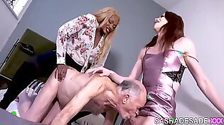 Guy Dominated By Wife And Shemale