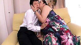 Chubby Japanese housewife submits to every inch of cock