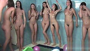 Russian/Ukrainian nude girls playing in pool