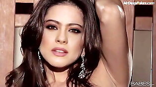 Young Kajol Devgan Rubbing her tits and finuring pussy