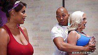 Alena Croft & Bridgette B & Ricky Johnson in Breathe In Stretched Out - BRAZZERS