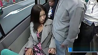 Asian Babe On The Bus