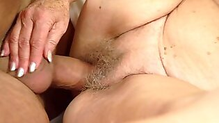 Young fucker brings old lady incredible sexual pleasure
