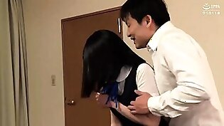 Sweet Asian schoolgirls banged hard together by horny boys