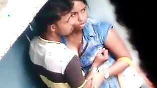 Madurai young tamil lovers boobs press in public