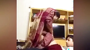 Desi Maid with young boy