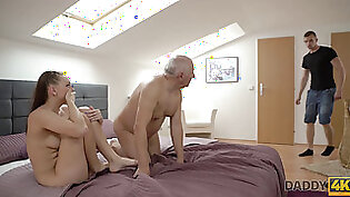 DADDY4K. Omelia had unexpected sex with dad of her man