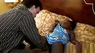 Filthy Midget Gets Her Pussy Teased By A Nasty White Perv