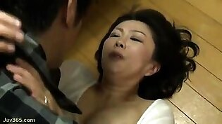 Mature Japanese Sucks And Plays With Young Cock Uncensored
