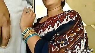 Indian aunty gives the perfect blowjob